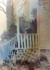 """GRANDMOTHERS PORCH"" original watercolor by American artist Micheal Jones"