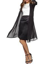 Apart mousseline manteau neuf 36 Étole Cape Blazer Soir Transparent Noir 67465 300