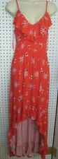 New Express Ladies Ruffled Red Floral Party / Cocktail.Lolita Dress Size Sm