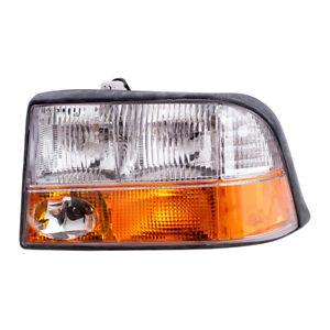 Drivers Headlight Lens w/ Fog Lamp Assembly for GMC Jimmy Sonoma Pickup Truck