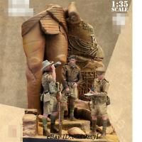 1/35 Desert soldiers Resin Model Kits Unpainted GK Unassembled