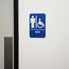 Ada Men'S Restroom Sign Handicap W/Braille Free Shipping Us Only