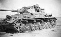 WW2 German Panzer MkIV Afrika Korps WWII World War Two Photo B&W Wehrmacht