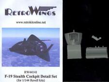 RetroKits Models 1/144 F-19 STEALTH FIGHTER COCKPIT DETAIL SET Resin Update Set