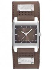 s.Oliver Damenuhr Uhr Modern Analog Leder Braun SO-2164-LQ