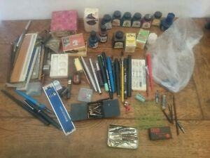 Job lot mixed colours and brands calligraphy ink pens nibs equipment tools
