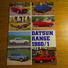 DATSUN Cherry Sunny Violet Bluebird Laurel Skyline 280C 280ZX Brochure 1980-1981