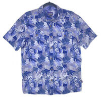 Patagonia Hawaiian Aloha Button Down Medium Shirt Organic Cotton Palm Print Mens