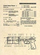 Official Sig Sauer US Patent Art Print - SILENCER Gun Pistol 1911 - Original 270