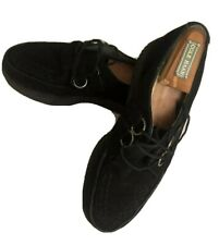 TUK Back Suede Creepers Size Men's 10 Rockabilly Psychobilly Punk Black Leather