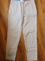 """TALBOTS SIZE 6 BLUE AND WHITE STRIPED PANTS  32"""" WAIST 29"""" INSEAM 10"""" RISE"""