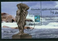 Alands Finland souvenir sheet 75 AR # 137  CAT $15 used