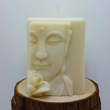 egbhouse, Natural Beeswax Soywax candle Buddha Closeup Candle - Handmade Candle