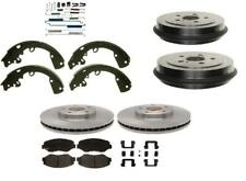 Ceramic Pads Rotor Drum Shoes spring 2000-2004 fits Xterra Frontier 4 x 4