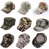 Femme Homme Pêche Casquette Chapeau Camouflage Camping Unisexe Militaire Cap