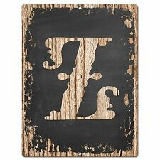 PP02339 Alphabet Initial Name Letter Z Chic Sign Bar Shop Store Home Room Decor