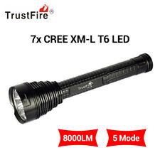 TrustFire 8000 Lumens Cree XML 7 T6 LED Light Tactical Flashlight Torch +Holster