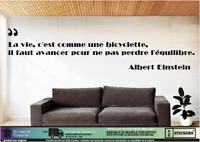 Citation Albert Einstein «La vie c'est comme une .» mural autocollant décoration