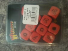 WARLORD GAMES PROJECT Z ZOMBIE DICE PACK - RED - NEW & SEALED