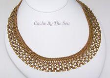 Silpada Gold Brass Wide Collar Necklace KRN0085 Retired