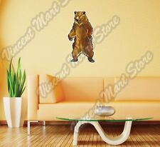 "Grizzly Brown Bear Wild Animal Wall Sticker Room Interior Decor 14""X25"""