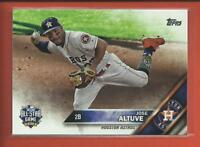 Jose Altuve 2016 Topps Update Series All Star Game Card # US288 Houston Astros