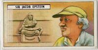 Sir Jacob Epstein American-British Sculptor Artist Vintage Trade  Ad Card