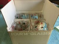 George Briard Vintage Double Old Fashioned Drinking Glasses