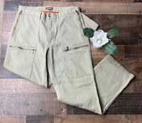 Men's Beige MICHAEL KORS Ribbed Cargo Pants Size 33