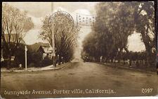PORTERVILLE, CALIFORNIA, Post Card 1912 Tulare County STREET SCENE, Homes