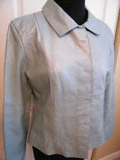 SAGUARO BABY BLUE GENUINE LEATHER LINED TAILORED/FITTED JACKET  SZ
