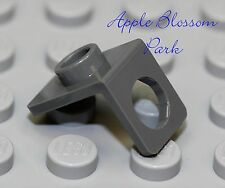 NEW Lego DARK GRAY MINIFIG NECK Bracket - Package Holder Back Plate w/Stud-Knob