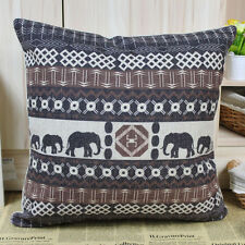 "Cushion Cover 18"" Elephant African Decorative Throw Day Bed Pillow Couch Cushion"