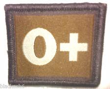 Groupe Sanguin O+ velcro patch Gardes PARAS Royal Marines RAF Armée SAS