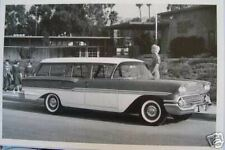 """12 X 18""""  Black & White Picture 1958 Chevrolet Brookwood 4 Door Station Wagon"""