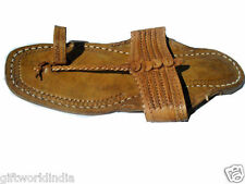 Handmade Leather Sandal men USA 11 Shoes Flip Flop traditional Kolhapuri Chappal