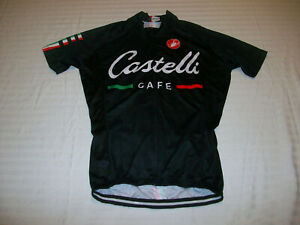 CASTELLI CAFE CYCLING BICYCLE JERSEY MENS SMALL ROAD/MOUNTAIN BIKE JERSEY NICE!