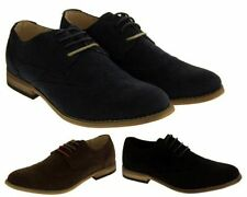 Faux Suede Lace-up Round Toe Shoes for Men