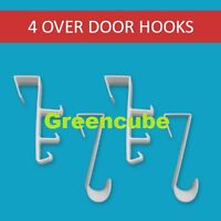 Over Door Plastic Ironing Hooks -Holds Up To 8 Hangers Pack Of 4 Fast Delivery