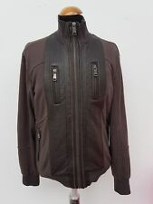 D239 MENS ZARA MAN BROWN LONG SLEEVE ZIP UP FITTED JACKET M 40