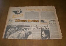1980 TRIBUNE REVIEW NEWSPAPER SUPER SUNDAY FOR STEELERS - SEE YA IN PASADENA
