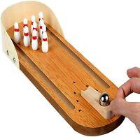 10 Pin Bowling Wooden Desktop Game Office Mini Arcade Game Skittles Ball Classic