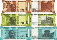 INDIA - news Lotto 3 banconote 10/20/50 rupees FDS - UNC