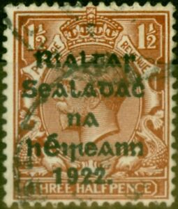 Ireland 1922 1/2d Red-Brown SG28 Harrison Fine Used