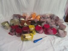 Lot of 36 Vintage Latch Hook Rug Yarn, Brunswick Facile, 100% Orlon Acrylic