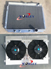 3 core aluminum radiator & shroud & fans for Ford Mustang V8 1967 1968 1969 1970