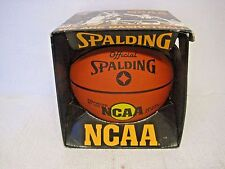 New Ncaa Spalding Deluxe Ny Weave Deep Pebble Rubber Basketball w/Box