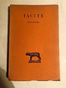 TACITE HISTOIRE - PAR H GOELZER - TOME SECOND - 1939