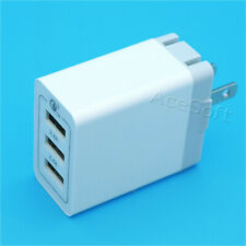 3-Port QC 3.0 USB Wall Charger Power Adapter for Samsung Galaxy S8 Plus SM-G955U