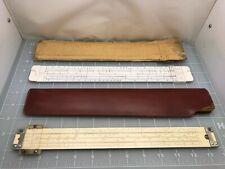 Lot of 2 Vintage Slide Rulers - Mannheim & Pickett